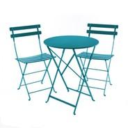 Fermob - Bistro Metal Garden Set - turquoise/table Ø60cm