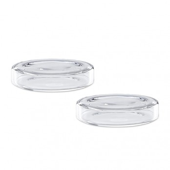 HAY - Bits & Bobs Glasschalen-Set 2tlg. M - transparent/Ø11cm/H 2cm