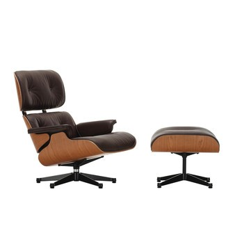 Vitra   Eames Lounge Chair U0026 Ottoman   Leather Natural Chocolate/shell  American ...