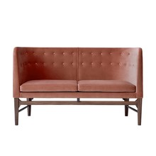 &tradition - Mayor AJ6 2-Sitzer Sofa Gestell Nussbaum