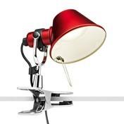 Artemide - Tolomeo Micro Pinza LED Klemmleuchte - rot/lackiert/BxH 16x20cm/3000K/400lm