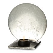 Catellani & Smith - Luna Kerzenleuchter - silber/Aluminium/Ø17cm/inkl. Kerze