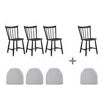 HAY - Aktionsset 3+1 J41 Stuhl mit Sitzkissen