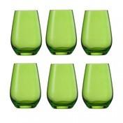 Schott Zwiesel - Vina Spots 42 Wasserglas 6er Set - grün/385ml/H: 11.4cm