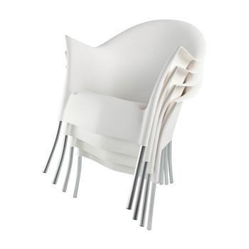 Driade - Lord Yo Stuhl 4er Set - weiß/RAL 9016/Kunststoff/für Innen- und Außenbereich geeignet