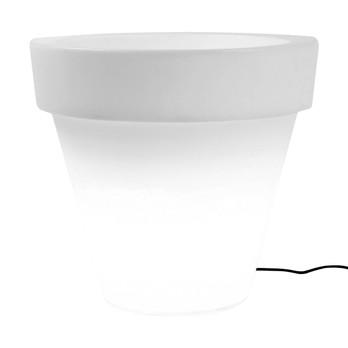 Serralunga - Vas Three Leuchte / Blumentopf S - neutral / ØxH 58x50cm/Kunststoff