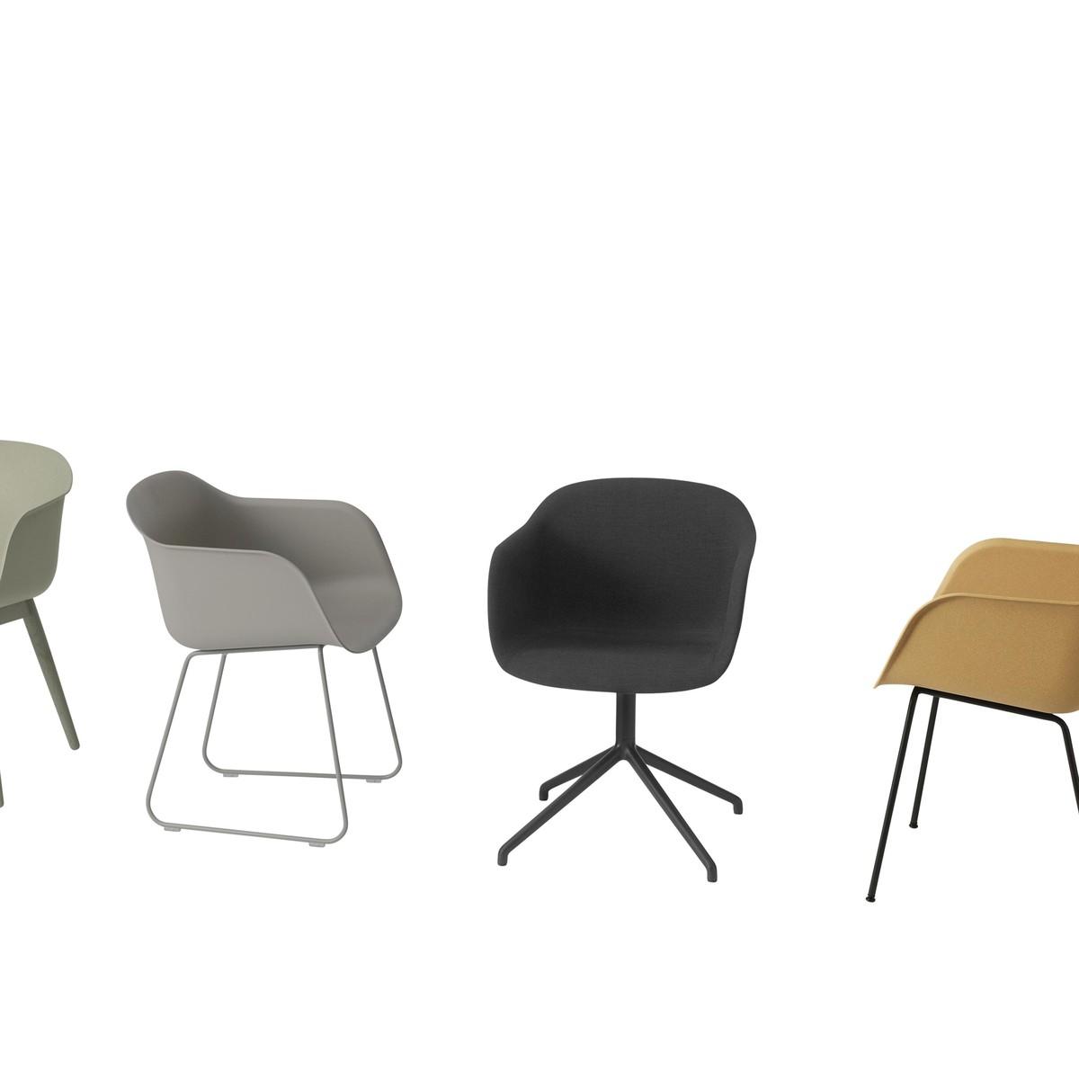 Fiber chair chaise pivotante muuto for Chaise pivotante