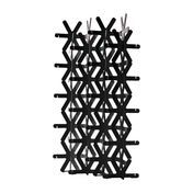 Cappellini - Yuki Paravent (36 Module) - anthrazit/Kunststoff/100x30.5x181cm