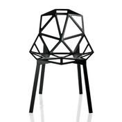Magis - Chair One Stuhl Stapelbar - schwarz/lackiert/Beine aus schwarz eloxiertem Profilaluminium/für den Außen- und Innenbereich