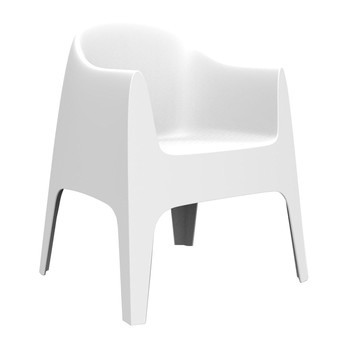 Vondom - Solid Armlehnstuhl - weiß/H x B: 80 x 65cm/für Innen- und Außenbereich geeignet