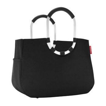 Reisenthel - Reisenthel loopshopper L Einkaufstasche - schwarz/wasserabweisend/Innentasche mit Reißverschluss/LxBxH 46x25x34.5cm