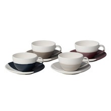 Royal Doulton - Set de 4 tasses avec soucoupes Coffee Studio