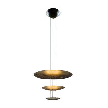 Catellani & Smith - Macchina Della Luce E LED Pendelleuchte - gold/Messing Stäbe/2600K-2800K/2520lm/CRI80/IP20/Scheiben Ø50/30/18cm