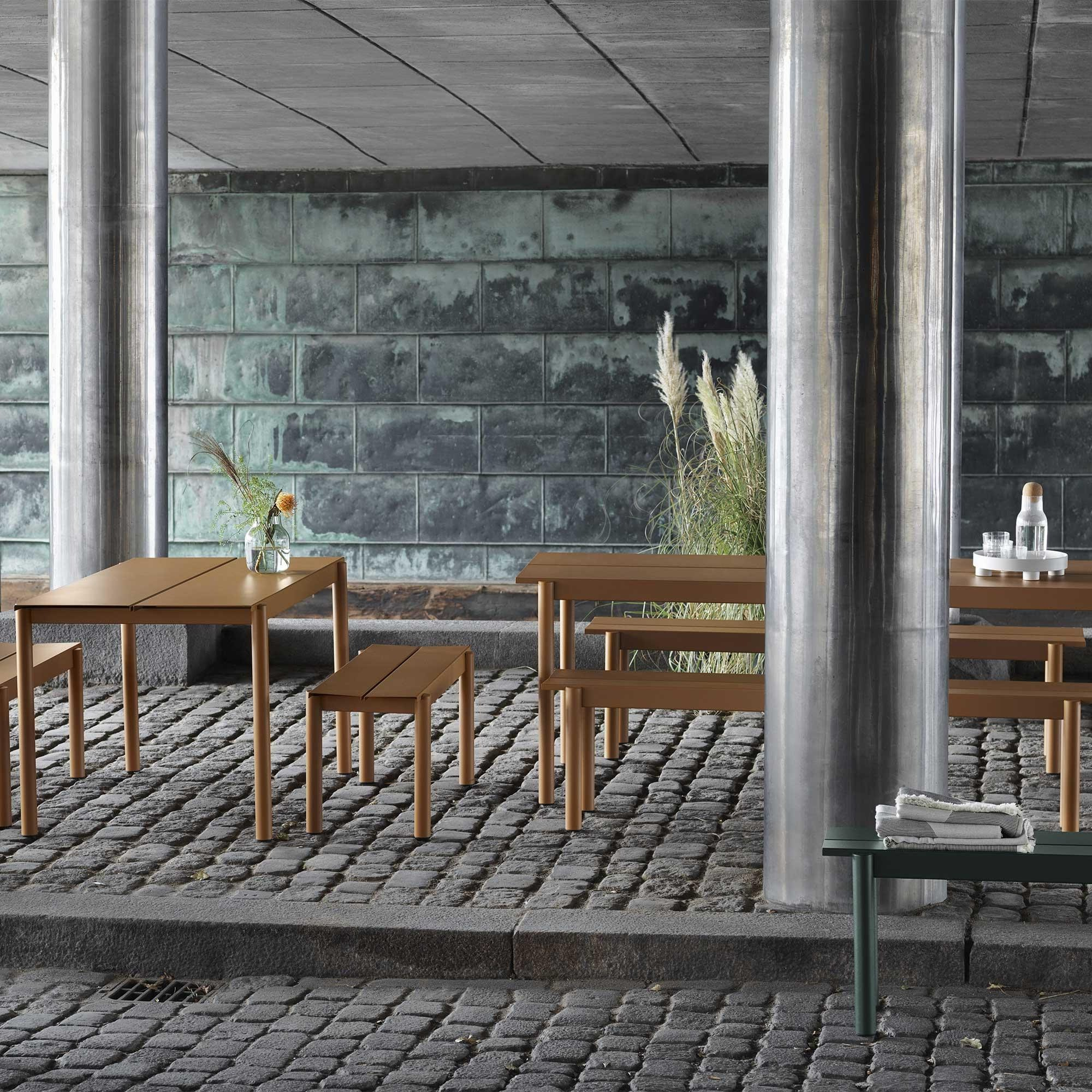 Muuto Linear Steel Outdoor Table 140x75cm Ambientedirect