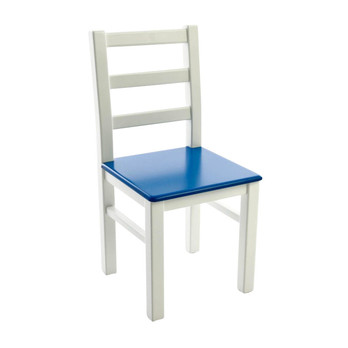 Kinderbunt - Marie Kinderstuhl zweifarbig - weiß/blau