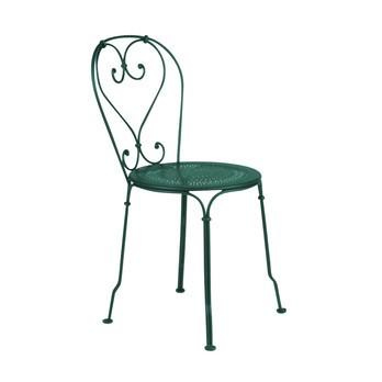 Fermob - 1900 Gartenstuhl - zederngrün/lackiert/perforierte Sitzfläche