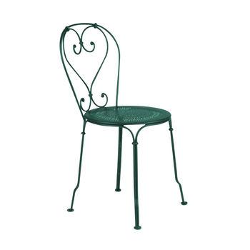Fermob - 1900 Gartenstuhl - Retourware (neuwertig/Einzelstück) - zederngrün/lackiert/perforierte Sitzfläche