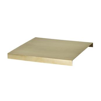 - ferm LIVING Brass Tablett für Plant Box - messing/LxBxH 26x26x2.5cm