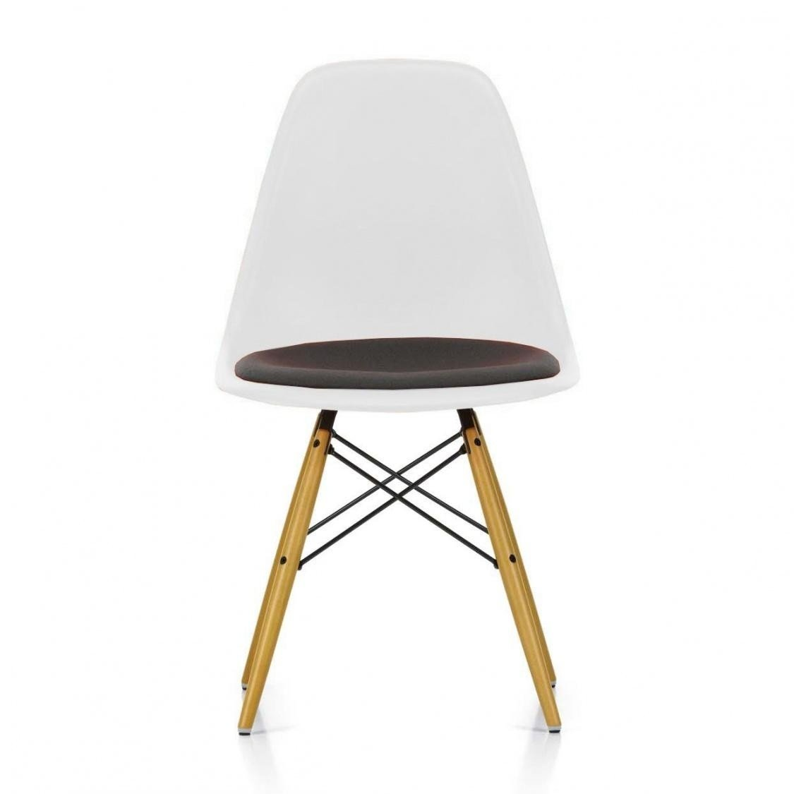 eames plastic side chair dsw upholst h43cm vitra. Black Bedroom Furniture Sets. Home Design Ideas