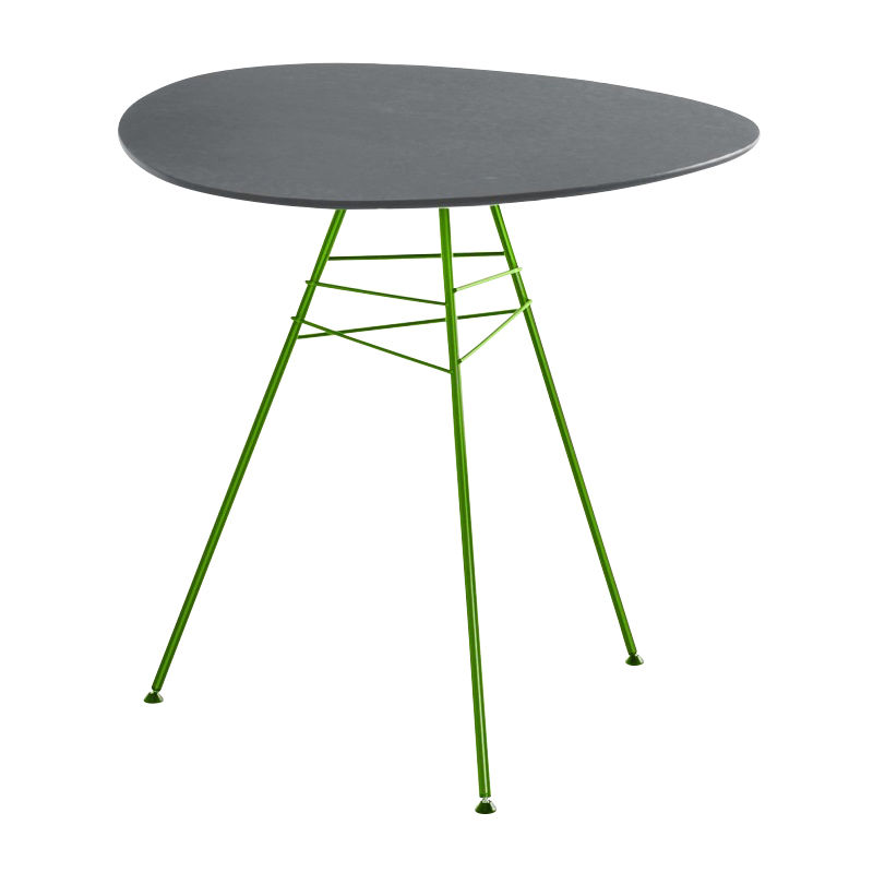 Leaf table de jardin triangulaire h74 arper for Table triangulaire