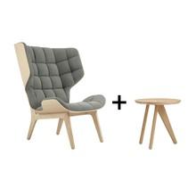NORR 11 - Aktionsset Mammoth Sessel + Fin Beistelltisch