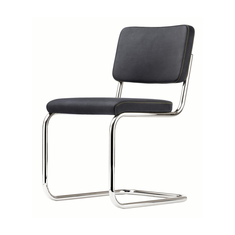 Freischwinger stühle leder weiss  Thonet S 32 Freischwinger Stuhl | AmbienteDirect