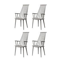 HAY - Set de 4 chaises avec accoudoirs J110