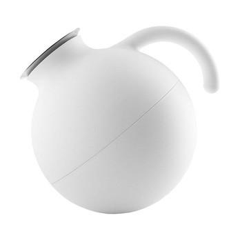 Eva Solo - Eva Solo Globe Isolierkanne 1L - weiß/matt/LxBxH 20x15.5x18.5cm