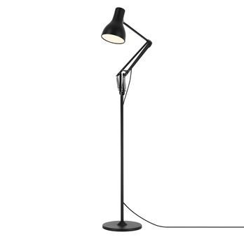 Anglepoise - Type 75 LED-Stehleuchte - tiefschwarz/matt/max. Höhe 66cm (von Fuß zu Schirm)/2700K/470lm