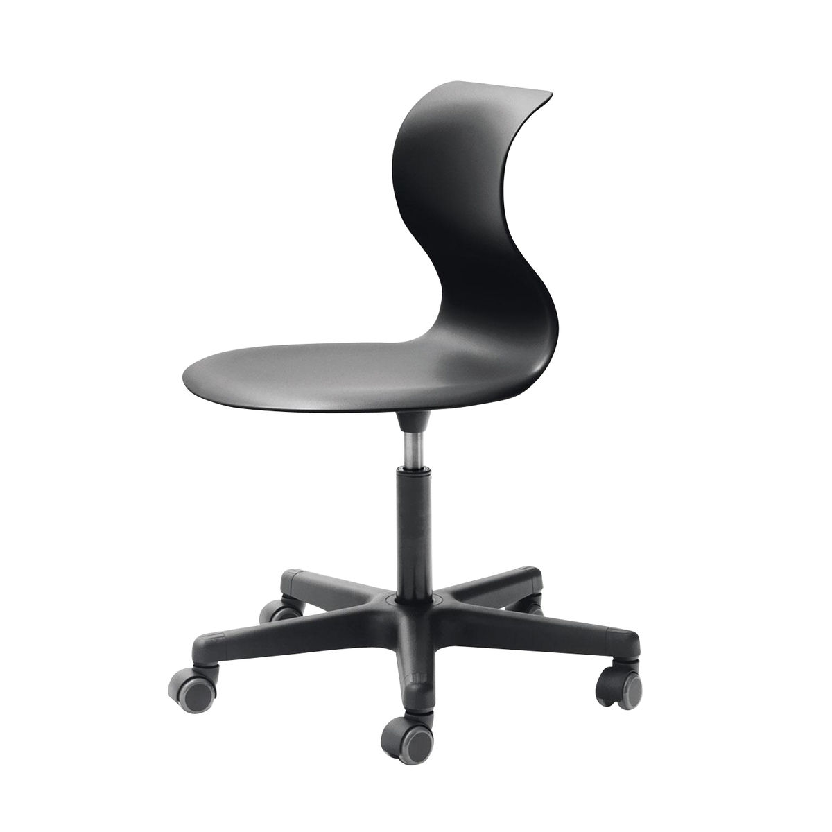 Delightful ... Flötotto   Pro 6 Swivel Chair With Wheels   Black/frame Black Polyamide/ Seat ...