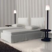 Gervasoni - Ghost 80.S Bett mit Husse 215x98cm - weiß/ohne Matratze und Lattenrost