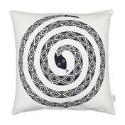 Vitra - Graphic Print Pillow Snake Kissen 40x40cm - schwarz/weiß