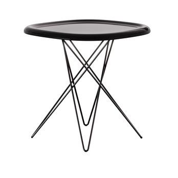 Magis - Pizza Table Beistelltisch - dunkelbraun/glänzend/Gestell lackiert