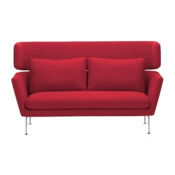 Vitra - Suita Citterio 2-Sitzer Sofa 188x88cm - rot/Gestell aluminium/Stoff Laser red 01/Bezüge abnehmbar/mit 2 Rückenkissen