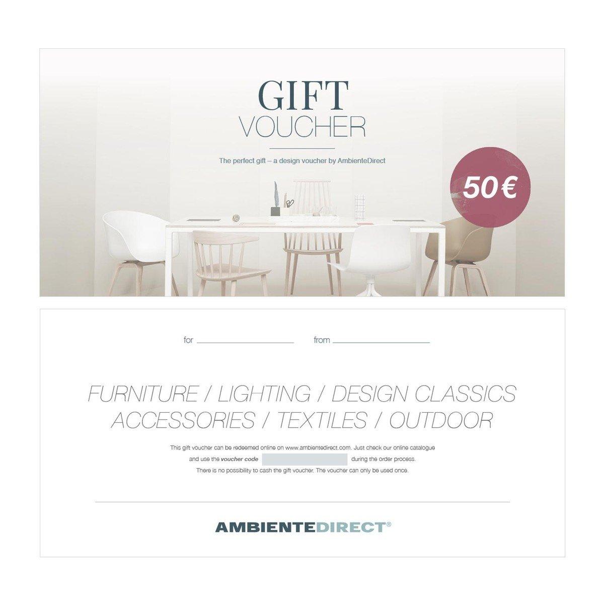 vale de regalo design eur ambientedirect. Black Bedroom Furniture Sets. Home Design Ideas