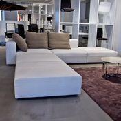 Molteni & C - Freestyle Sofa - natur/inkl. 3 Kissen beige/Stoff Kaspar 9521