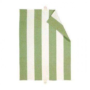 Linum - Ravioli Geschirrtuch 6er Set - moosgrün/L x B: 50 x 70cm