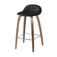 Gubi - 3D Counter Stool - Taburete de bar de nuez