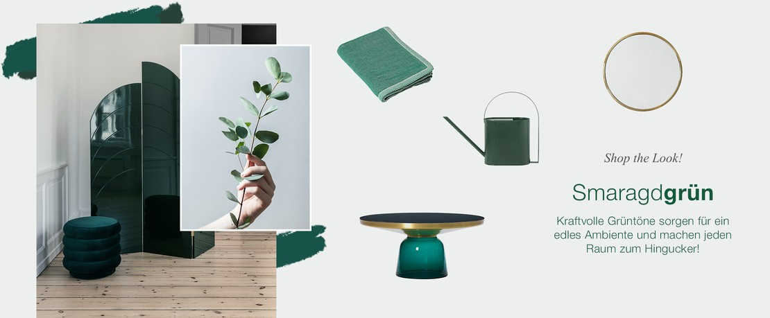 Presenter ShopTheLook Smaragdgruen DE