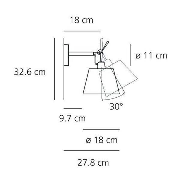 tolomeo parete diffusore wall lamp artemide. Black Bedroom Furniture Sets. Home Design Ideas