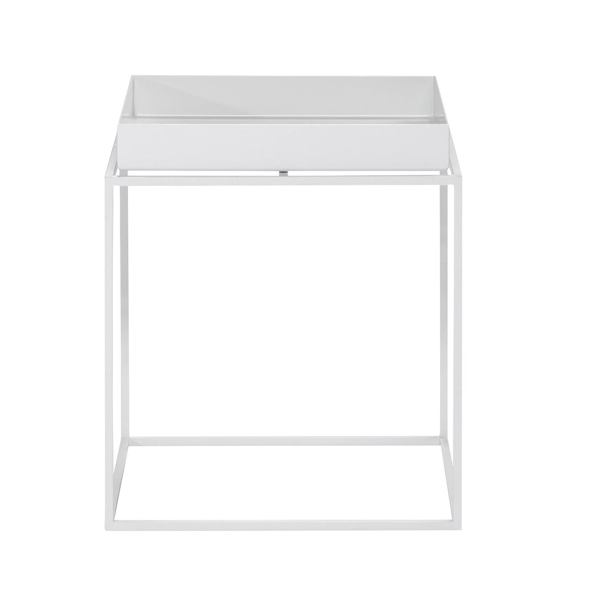 Tray side table square hay ambientedirect hay tray table side table white30x30x34cm geotapseo Gallery
