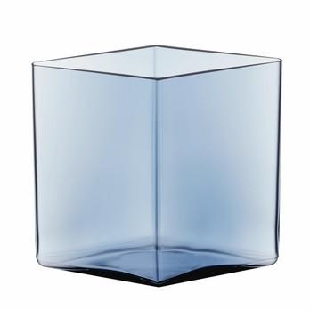 iittala - Ruutu Bouroullec Vase 205x180mm - regenblau/LxBxH 20,5x20,5x18cm