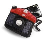 Donkey Products - Annie Camera Bag - black, grey, red/LxWxH 11.5x9.5x2.5 cm/maschine wash cold