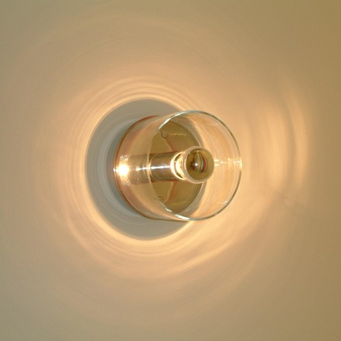 Oluce - Fiore 139 Wandleuchte - transparent