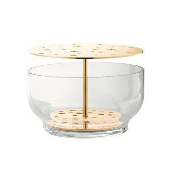 Fritz Hansen - Ikebana Vase  - messing/H 15,5cm, Ø 24cm