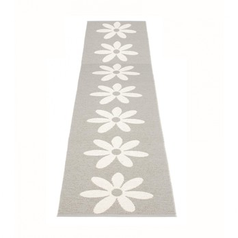 pappelina - Lilo Teppich 70x350cm - warmes grau/vanille