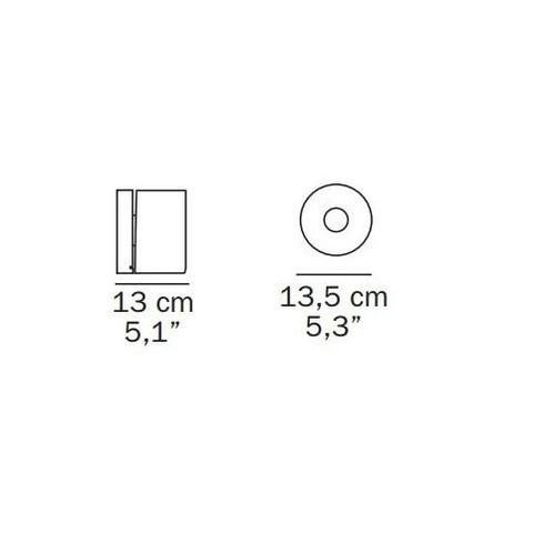 Oluce - Fiore 139 Wandleuchte - Strichzeichnung