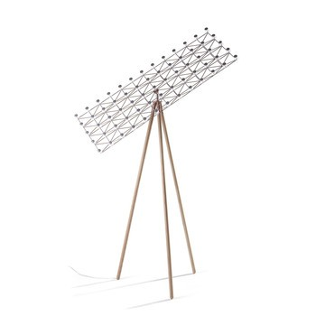 Moooi - Space Frame LED Stehleuchte - nickel/zimt/H :155cm/2700K/275 lm