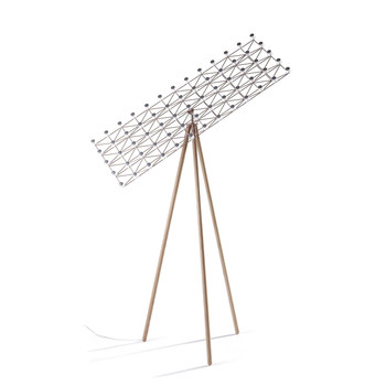 Moooi - Space Frame LED Stehleuchte - nickel/zimt/H :155cm/2700K/275 lm