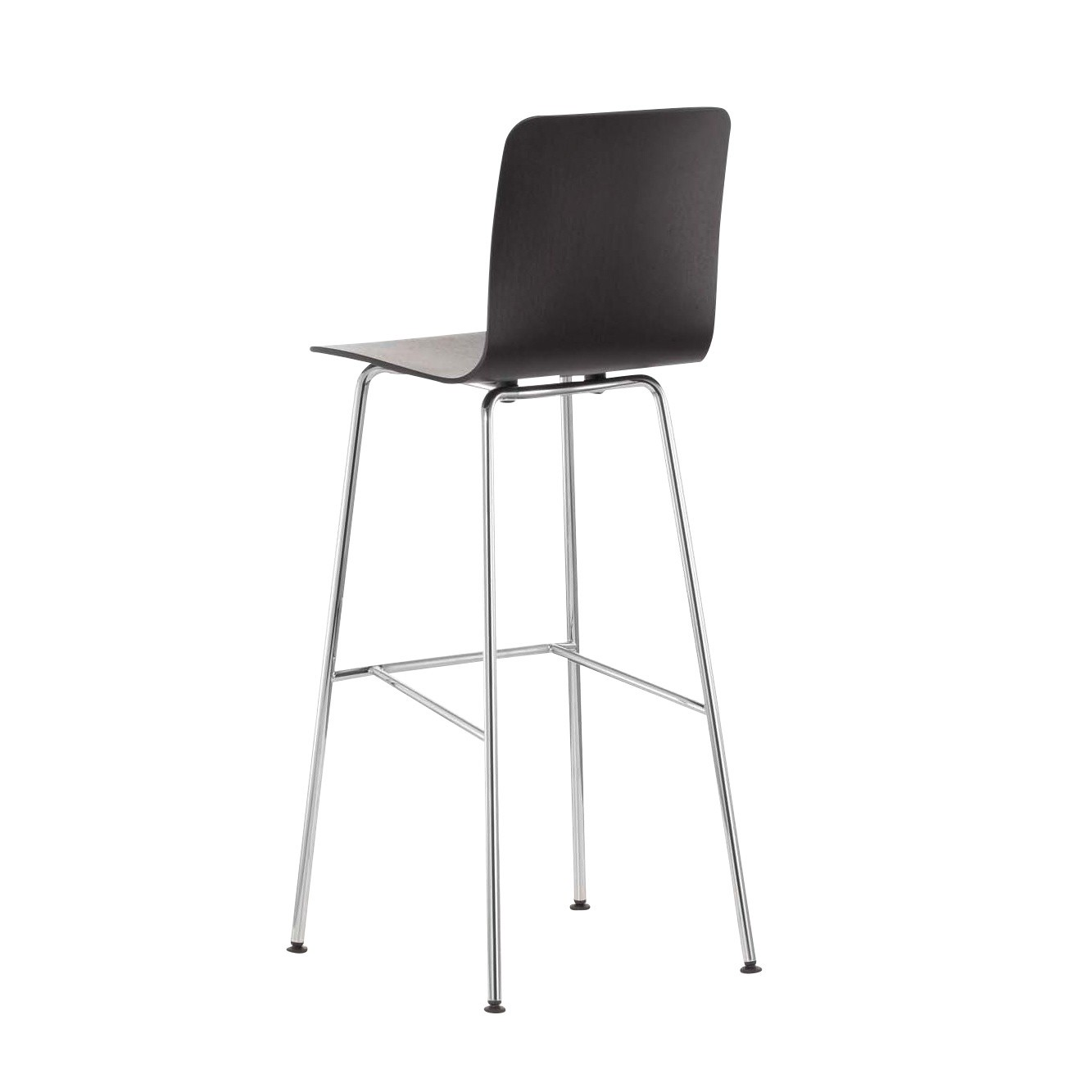 Vitra Hal Ply Stool High Bar Dark